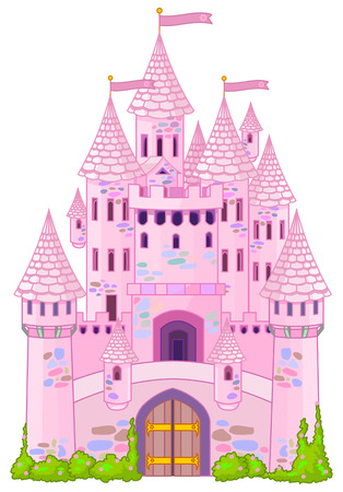 Illustration of a Fairy Tale Princess Castle  Çizim