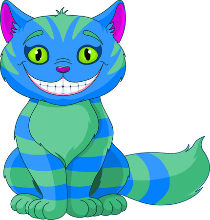 Illustratie van het glimlachen Cheshire Cat Stock Illustratie