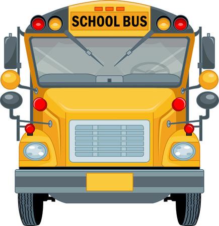 Cartoon illustration of a school bus  Vector