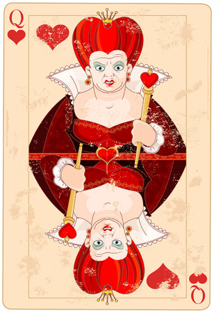 Illustration Queen of Hearts Playing Card