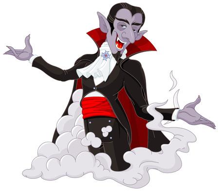 Illustration of very cute vampire
