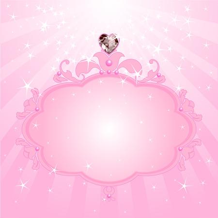 Princesa amor rosa marco. Perfecto para las niñas hermosas Foto de archivo - 30401811