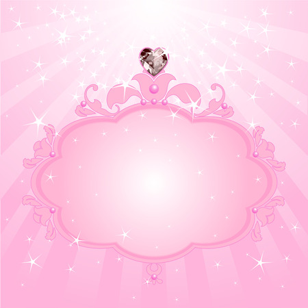 Princess Love pink frame. Perfect for beautiful girls Vector