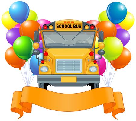 autoscuola: Illustrazione di scuolabus americano Vettoriali