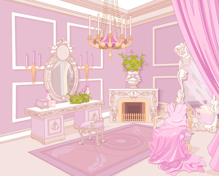 Princess dressing room in a palace Vector