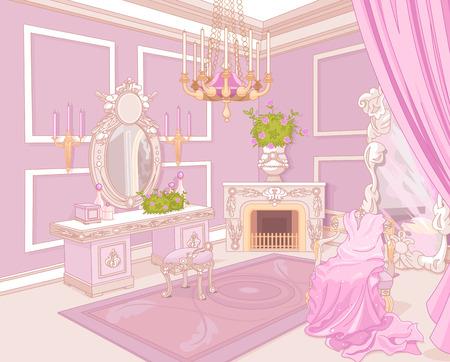 prinzessin: Princess Garderobe in einem Palast