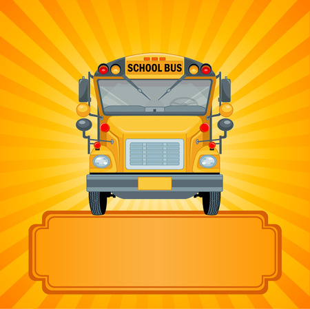 Illustration of American school bus Vector