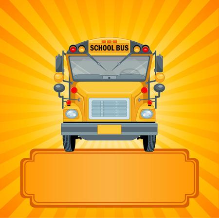 Illustration of American school bus Vector