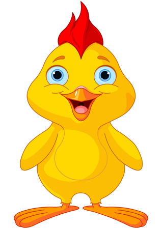 Illustration of cute funny chick