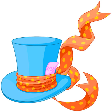 Illustration of Top hat of Mad Hatter Vector