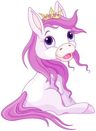 crowned: Very cute crowned pink horse