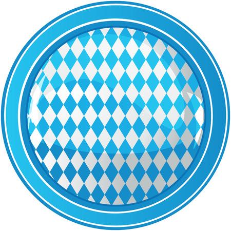 blau weiss: Oktoberfest Celebration Radial Background with Copy space.