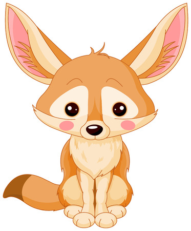 Illustration of cute Fox Fennec Illustration