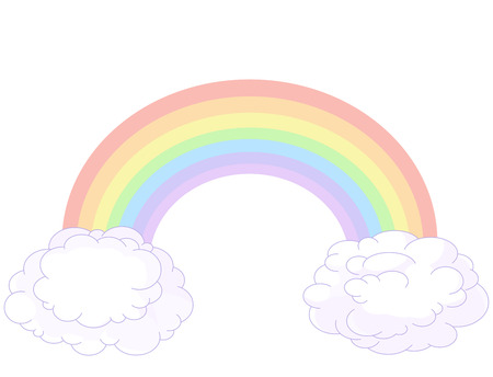 rainbow: Illustration of rainbow in pastel colors