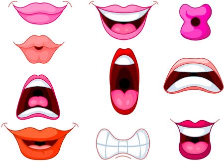 bouche homme: Ensemble de diff�rents bouche et des l�vres humaines