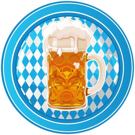 blau weiss: Oktoberfest Celebration circle button