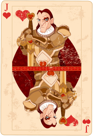 Illustration of Jack of hearts card Vector