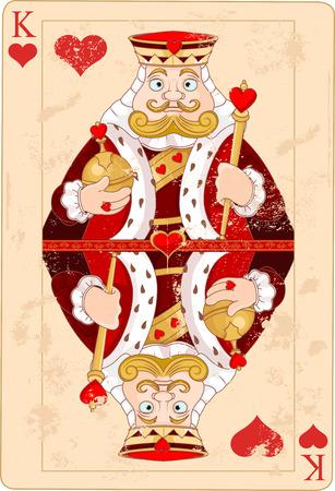 Illustration de roi de carte de coeurs Banque d'images - 31848911
