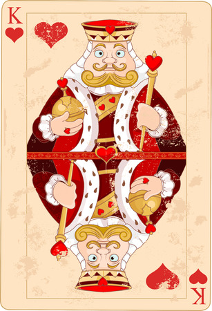 king of hearts: Illustration of king of hearts card