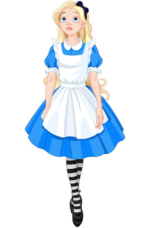 cute girl cartoon: Illustration of Beautiful Alice from Wonderland