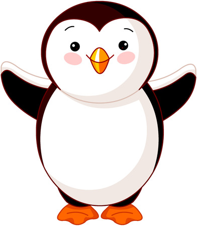 baby toy: Illustration of Cute baby penguin
