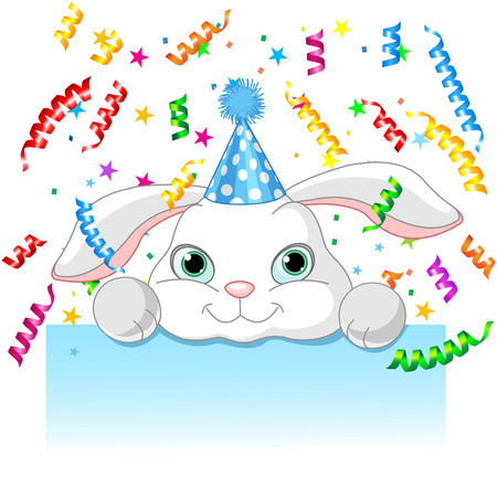 baby picture: Illustration of bunny birthday card