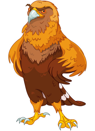 Illustration of beautiful golden eagle Illustration