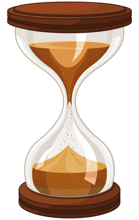clock: Illustration of sand clock