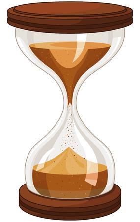 sand clock: Ilustraci�n de reloj de arena