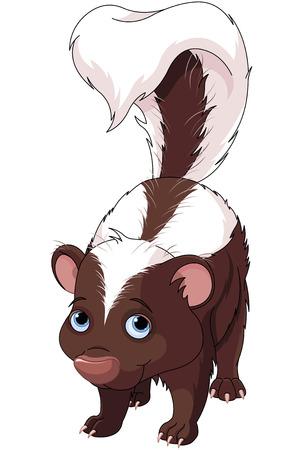 Illustration of very cute skunk