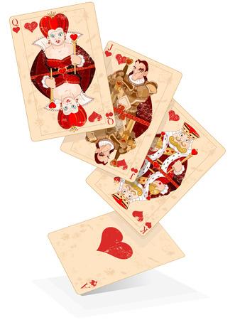 心のイラスト カードを果たしています。