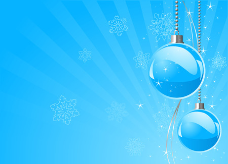 Blue colors Christmas and New Year�s place card Vector