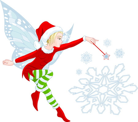 elves: Christmas Fairy granting wishes and helping your dreams come true
