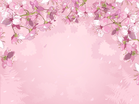 variegated: Illustration of flowered background Illustration