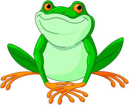 Illustration of very cute Frog  イラスト・ベクター素材