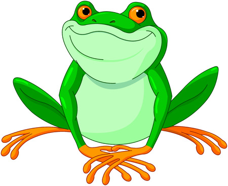 Illustration of very cute Frog Иллюстрация