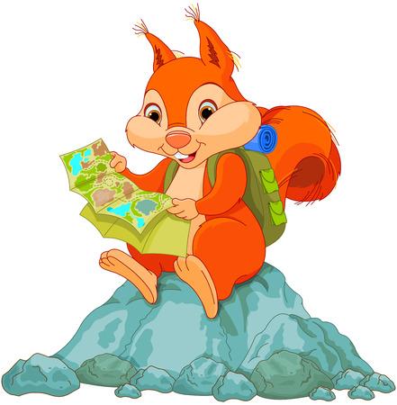 귀여운 다람쥐의 그림지도보기