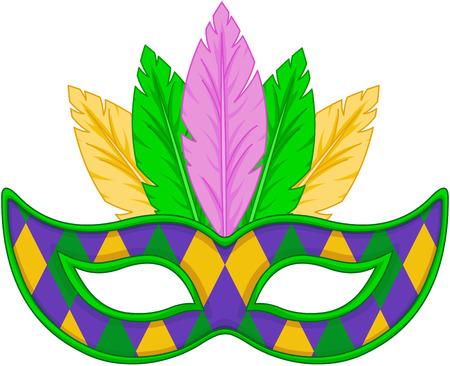 mascara de carnaval: Diseño de la máscara de Mardi Gras Vectores