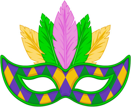 Mardi Gras conception de masque