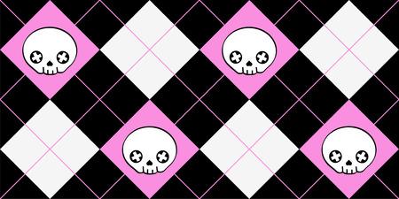Very cute background skulls Vector