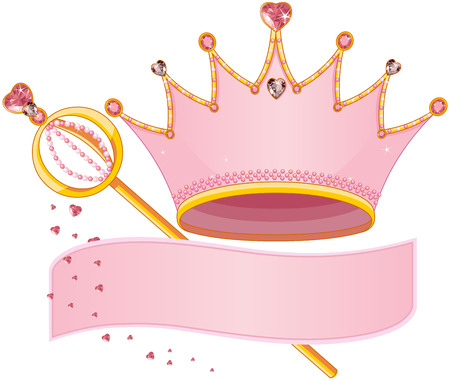 fairy princess: Set of Royal Regalia with copy space