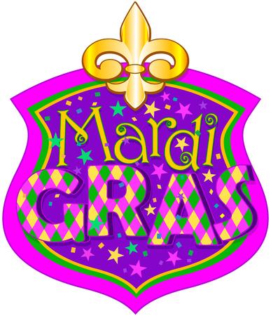 blazon: Illustration of Mardi Gras blazon