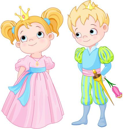 hadas caricatura: Ilustración de muy lindo Príncipes