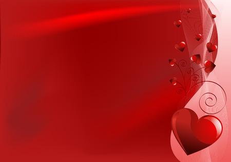 horizontal: Valentine Day horizontal background with hearts