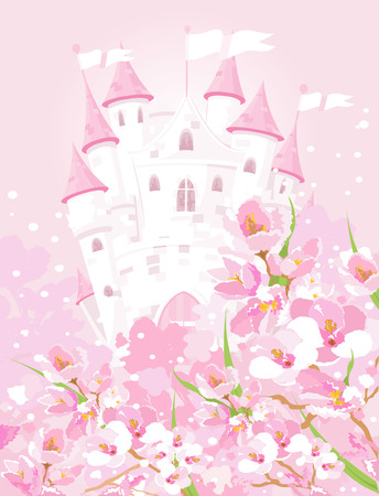 tales: Illustration of fairytale castle Illustration