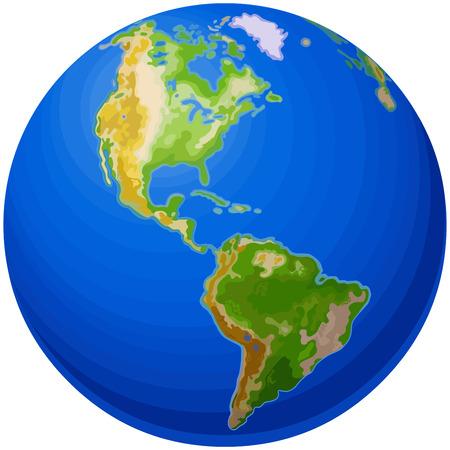 Illustration of the Globe Illustration