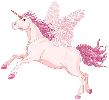pegasus: Illustration of very cute unicorn