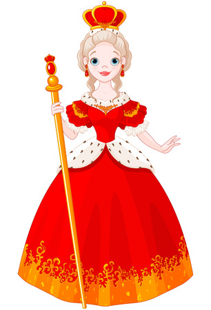 free clip art: Illustration of majestic Queen