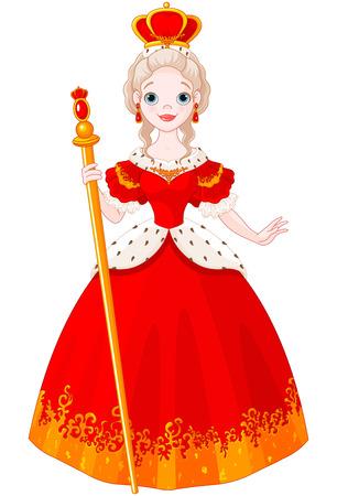 Illustration von majestätischen Königin Vektorgrafik