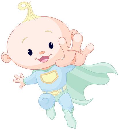 Illustration de très super mignon petit garçon